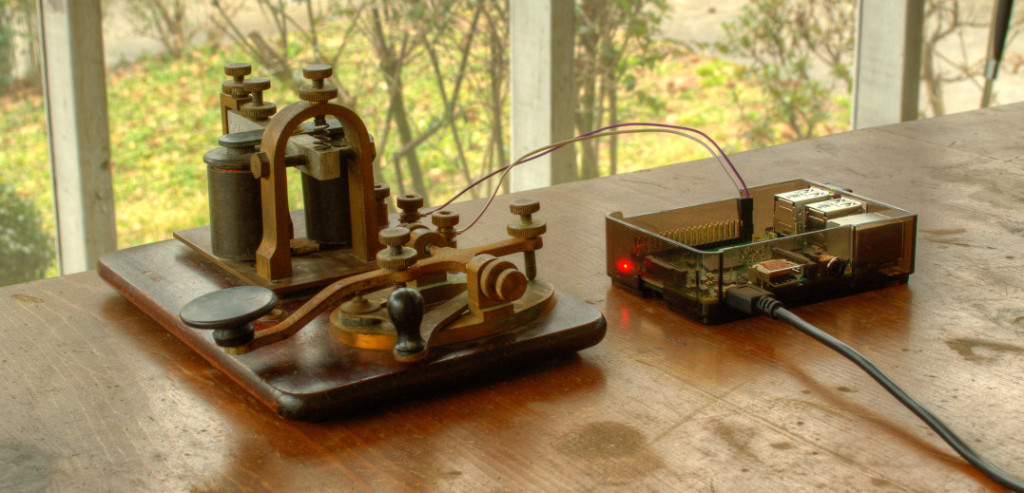 My grandfather's telegraph connected to a Raspberry Pi